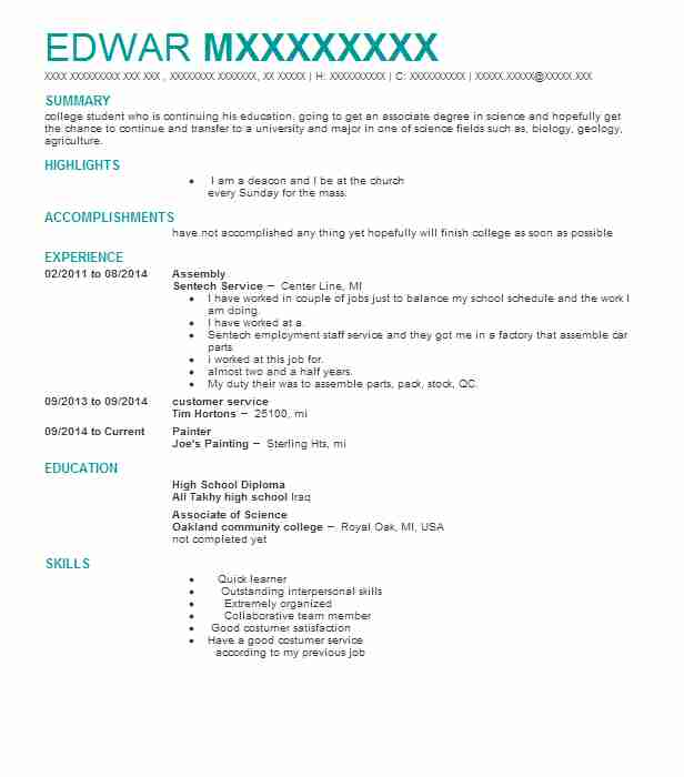 Journeyman Painter Resume Example (Painting Specialists) - Portland - Painter Resume