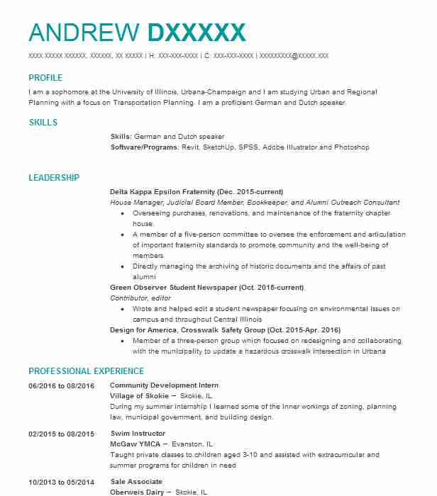 Transportation Planner Resume Example (Valley Metro) - Tempe, Arizona - some sample resumes