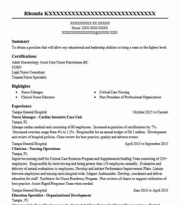 Family Nurse Practitioner Resume Example (Fastmed Urgent Care 100