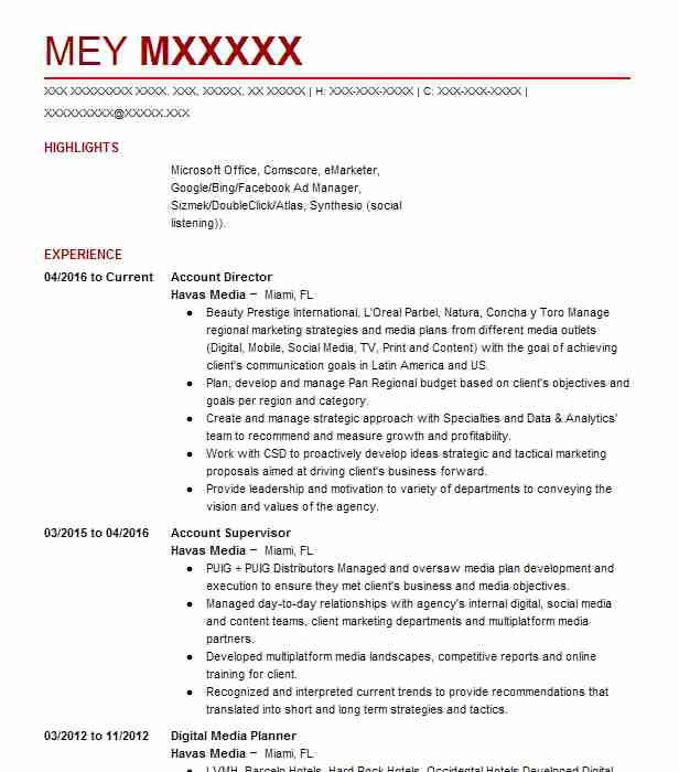 Account Director Resume Sample Management Resumes LiveCareer