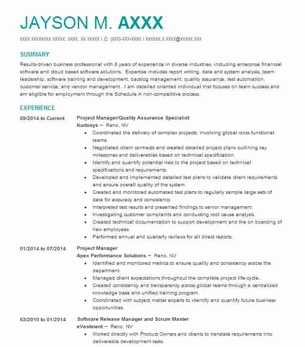 Emergency Management Specialist Resume Sample LiveCareer