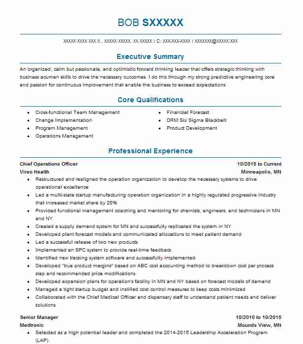 119 Engineering Management (Engineering) Resume Examples in