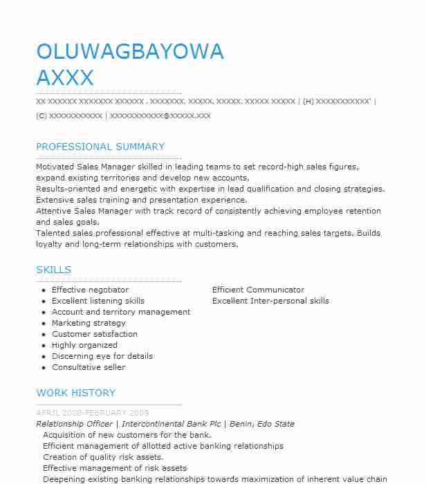 Relationship Officer Resume Sample Officer Resumes LiveCareer