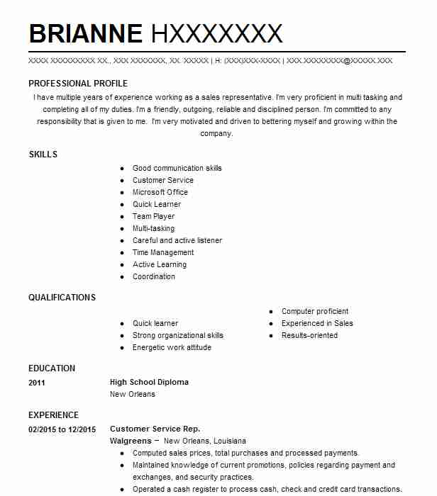 119 Post Office Resume Examples in Louisiana LiveCareer
