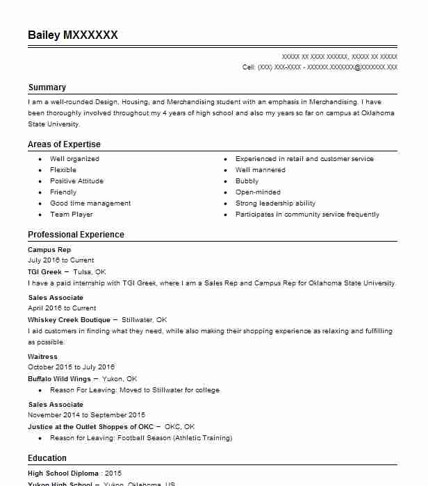 179 Fashion (Art, Fashion And Design) Resume Examples in Oklahoma - interviewer resume