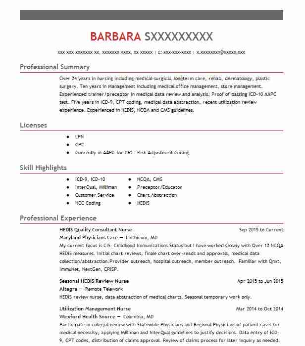 Utilization Review Nurse Sample Resume colbro - utilization management nurse sample resume