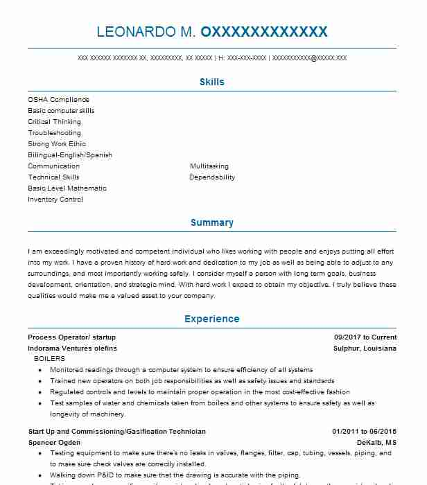 76 Insulation (Construction) Resume Examples in Louisiana LiveCareer - construction job resume