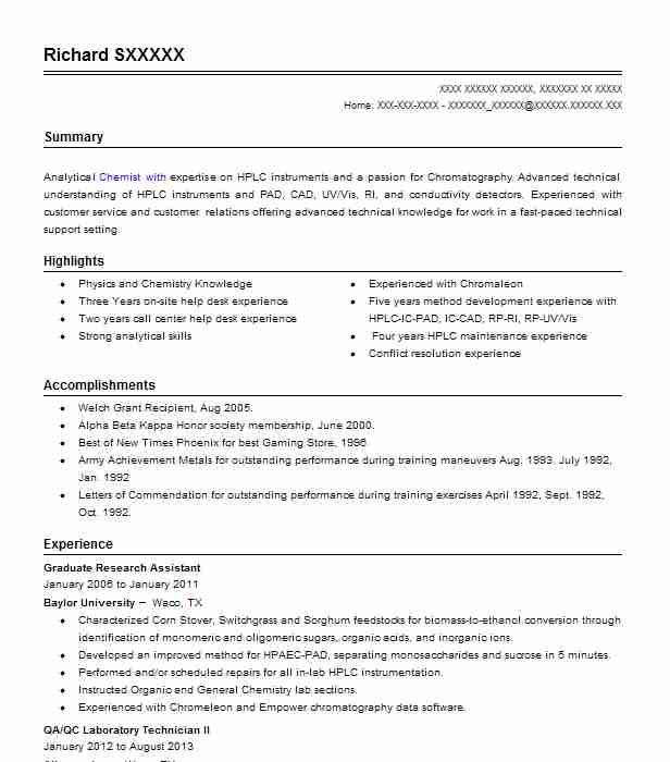 Graduate Research Assistant Resume Sample LiveCareer