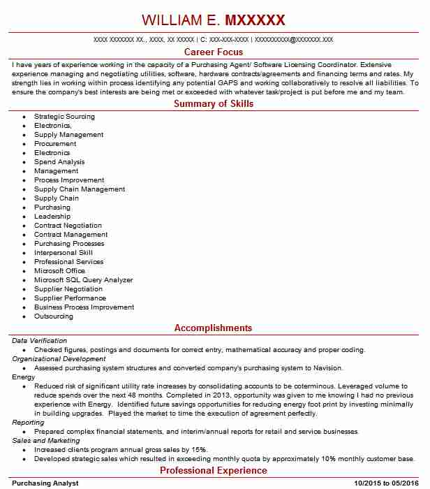 179 Purchasing And Procurement Resume Examples in Ohio LiveCareer - purchasing resume