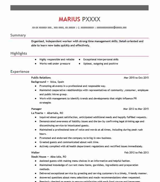 Best Public Relations Resume Example LiveCareerpublic relations cv