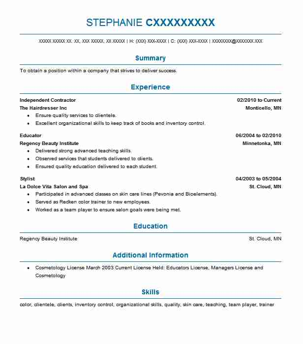 Independent Contractor Resume Sample Contractor Resumes LiveCareer