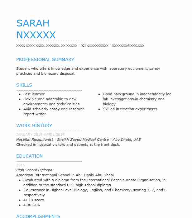 Hospital Receptionist Resume Sample LiveCareer - school receptionist sample resume