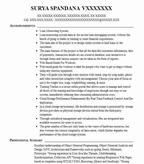 Web Ui Developer Resume Sample Technical Resumes LiveCareer