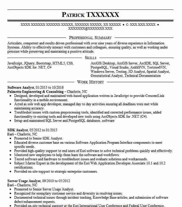 Software Analyst Resume Sample Analyst Resumes LiveCareer