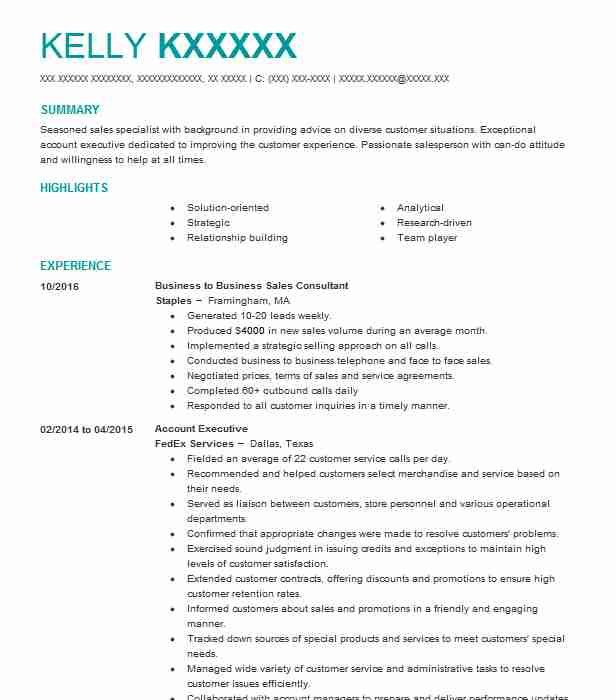 108 Inside Sales Resume Examples in Maine LiveCareer - inside sales resume example