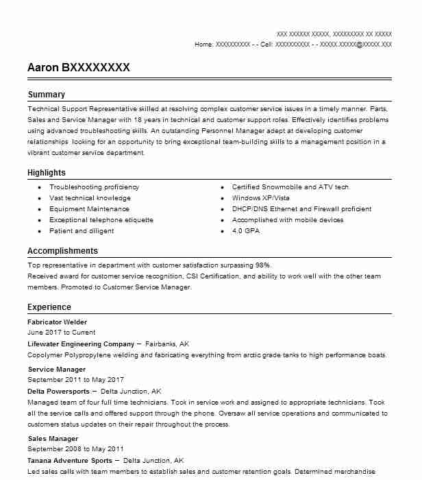 Fabricator Welder Resume Sample Welder Resumes LiveCareer