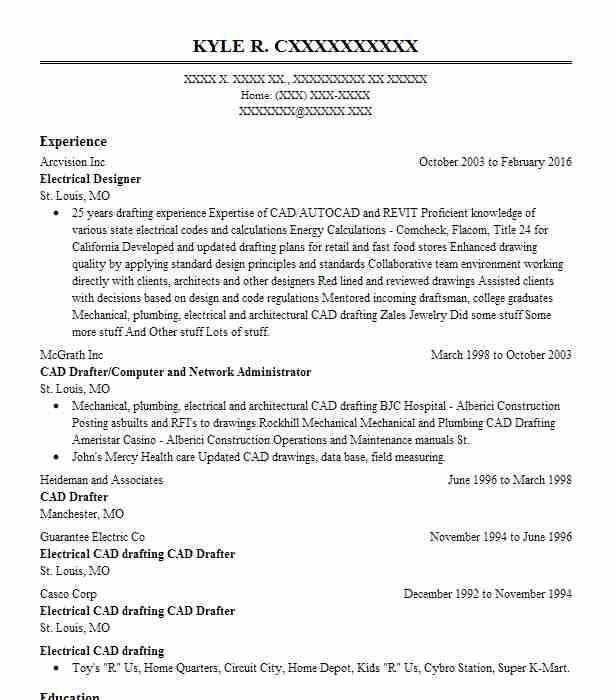 Electrical Designer Resume Sample Designer Resumes LiveCareer