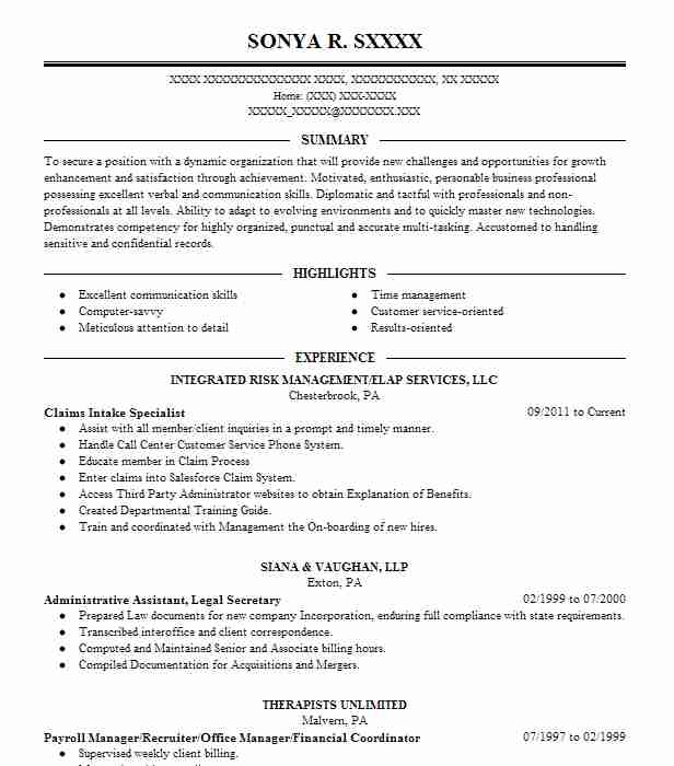 Medical Claims And Billing Specialist Resume Sample LiveCareer - Billing Specialist Resume