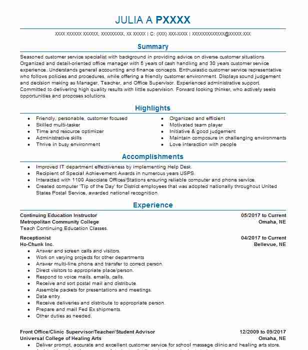 Academic Advisor Resume Objectives Resume Sample LiveCareer - retention specialist sample resume
