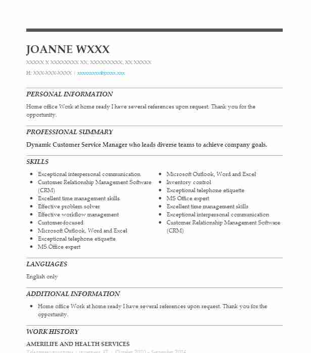 Telecommunications Resume Sample LiveCareer