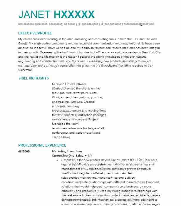 Marketing Executive Resume Sample Executive Resumes LiveCareer