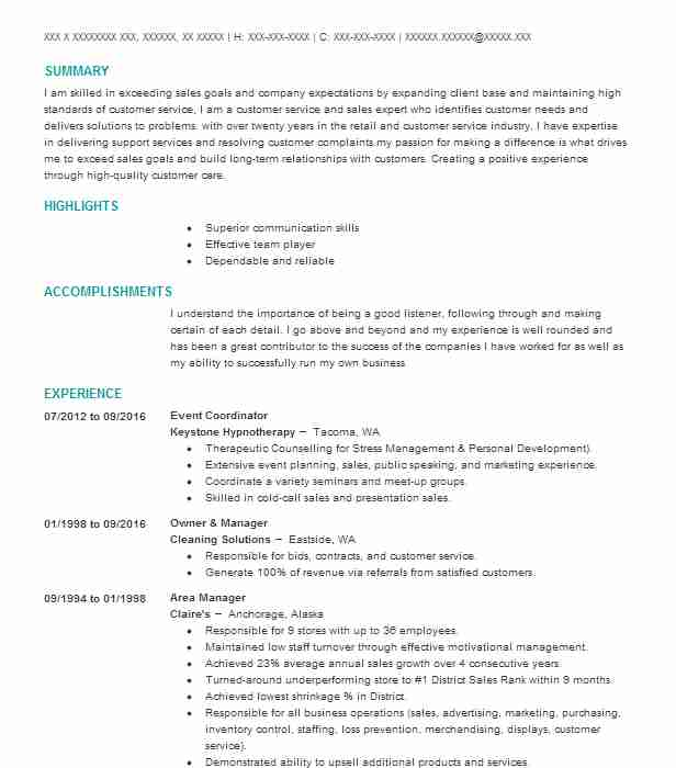 Event Coordinator Resume Sample Resumes Misc LiveCareer - event coordinator resume