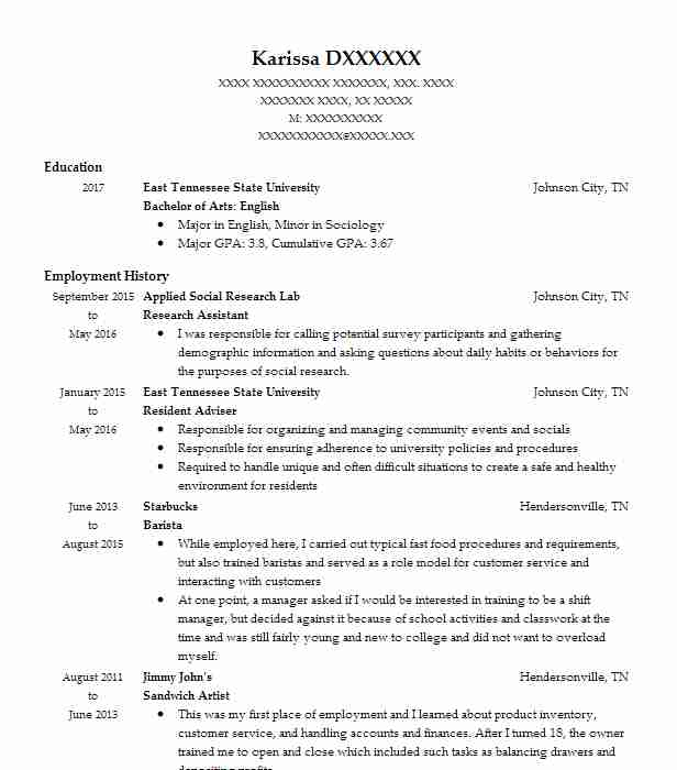 33 Teaching Assistants Resume Examples in Tennessee LiveCareer