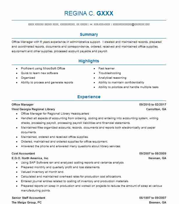 3915 Circulation Services Resume Examples Library Resumes LiveCareer - manufacturing cost accountant sample resume