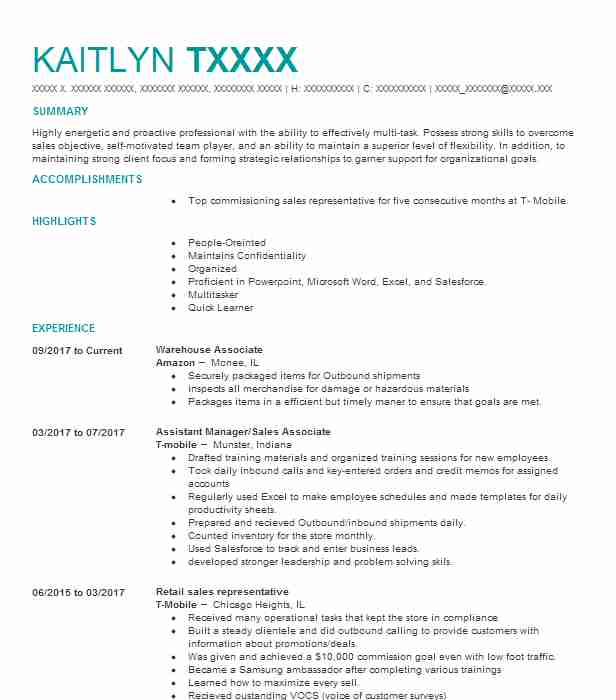 Best Warehouse Associate Resume Example LiveCareer