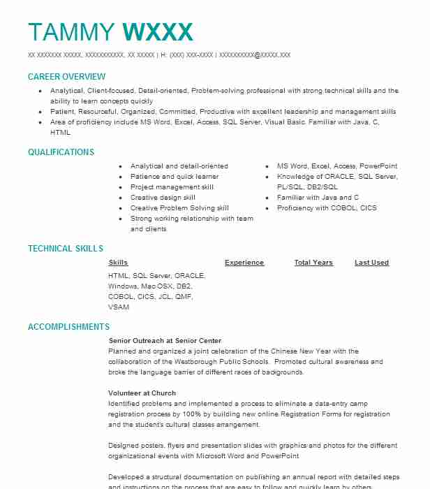 Software Engineer Objectives Resume Objective LiveCareer