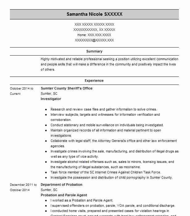 resume cover letter examples for investigators