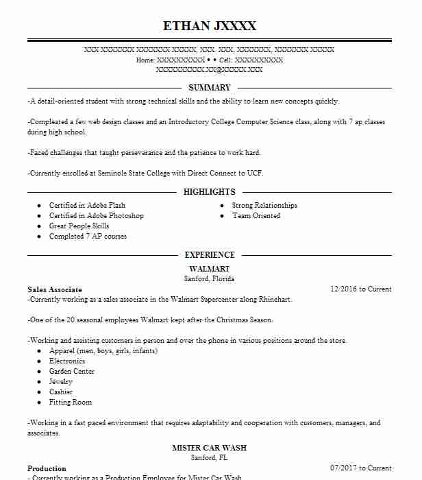 Best Sales Associate Resume Example LiveCareer - sales associate on resume