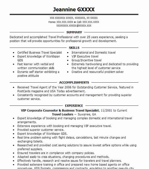 8485 Tourism Resume Examples Travel And Hospitality Resumes