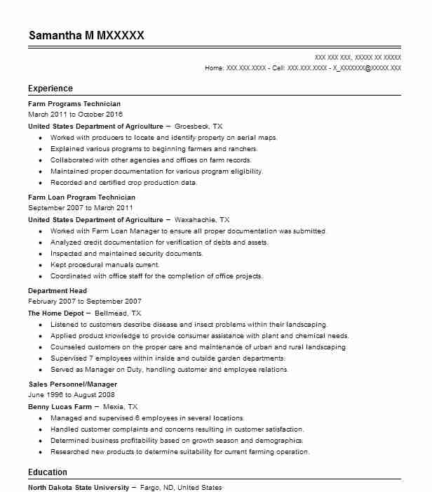 Agriculture Resume Sample Agriculture Resumes LiveCareer