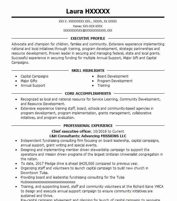 59 Development And Fundraising Resume Examples in Oklahoma LiveCareer - major gift officer sample resume