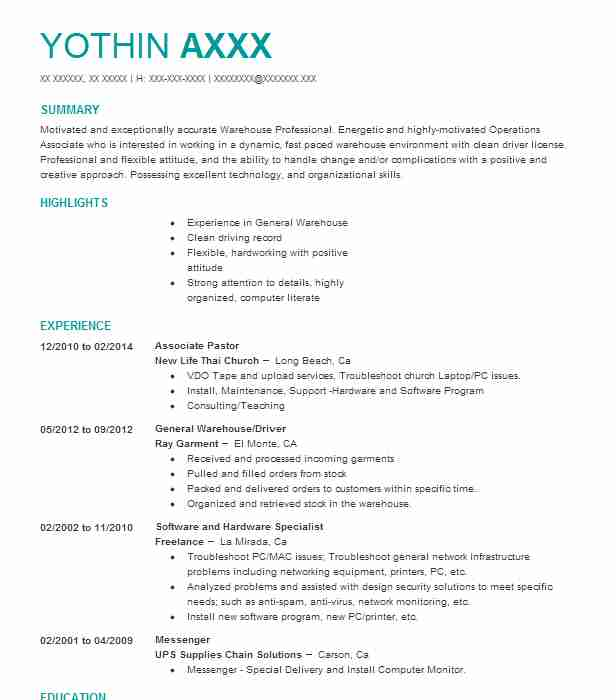 Pastor Resume Sample Resumes Misc LiveCareer - pastor resume template