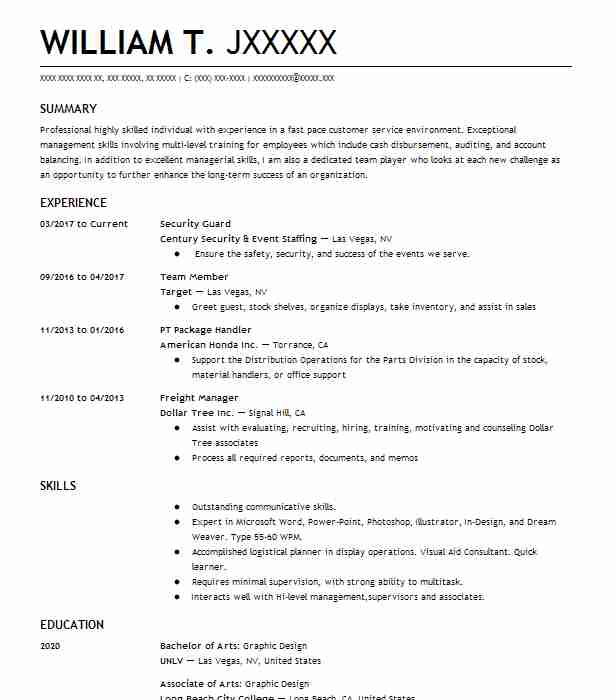 Best Security Guard Resume Example LiveCareer