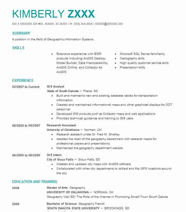 Gis Analyst Resume Sample Analyst Resumes LiveCareer