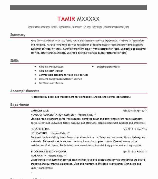 Laundry Aide Resume Sample Aide Resumes LiveCareer