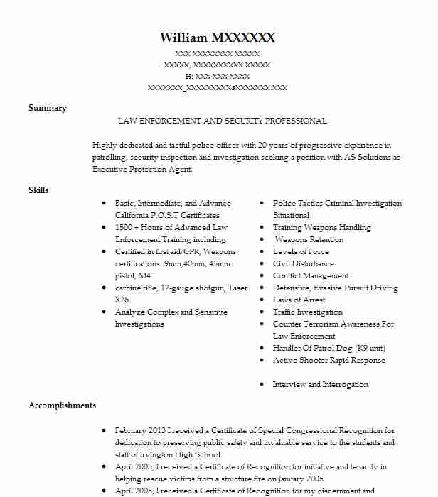 School Resource Officer Resume Sample Officer Resumes LiveCareer