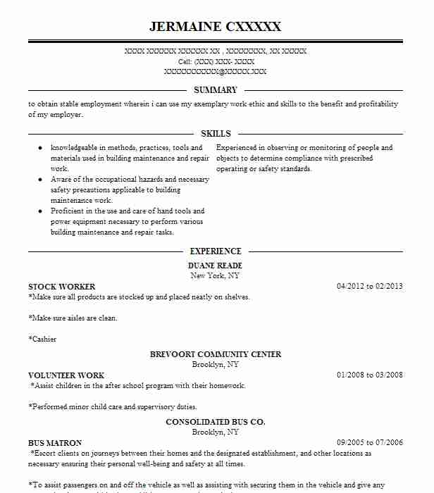 Stock Worker Resume Sample Worker Resumes LiveCareer