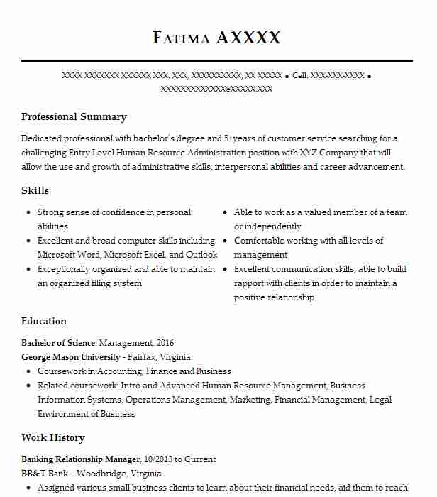 Banking Relationship Manager Resume Sample LiveCareer
