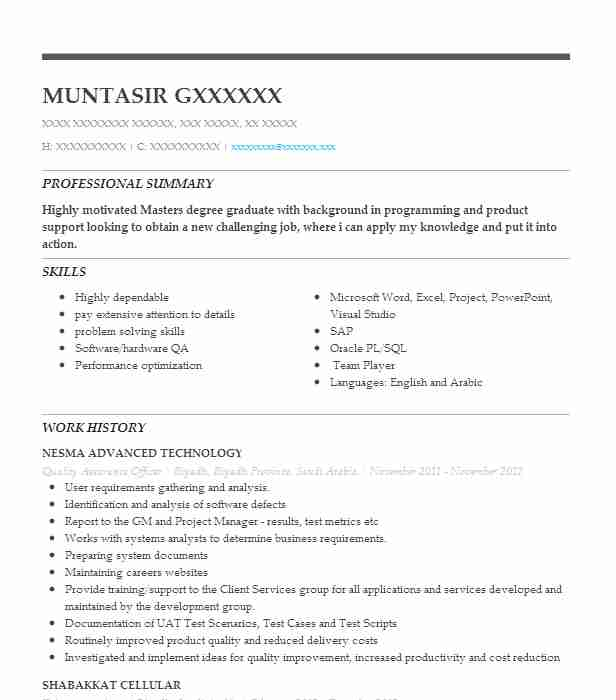 Quality Assurance Officer Resume Sample Officer Resumes LiveCareer