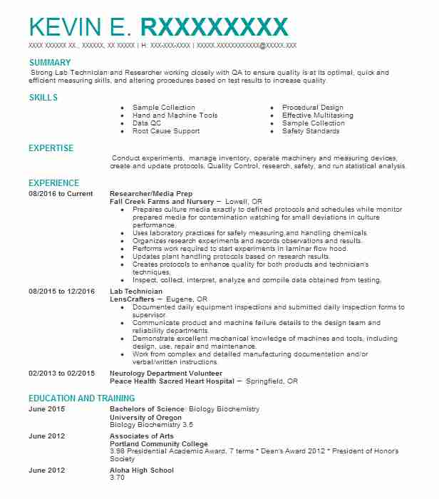 Research Associate Resume Example (Monsanto Company) - Bradford - media researcher sample resume