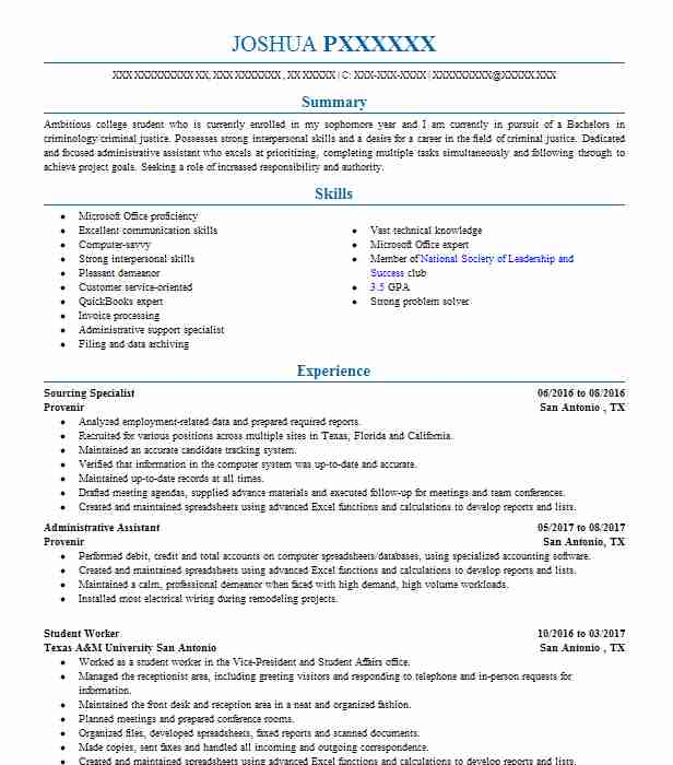 Sourcing Specialist Objectives Resume Objective LiveCareer
