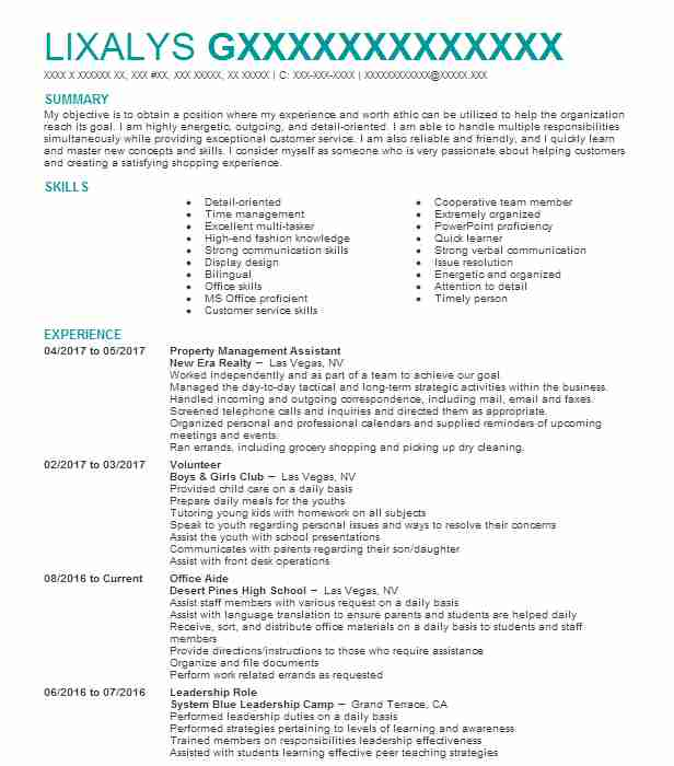 objectives in resume for it