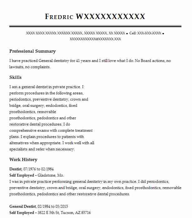 Dentist Resume Sample Dental Resumes LiveCareer - Dental Resume Templates