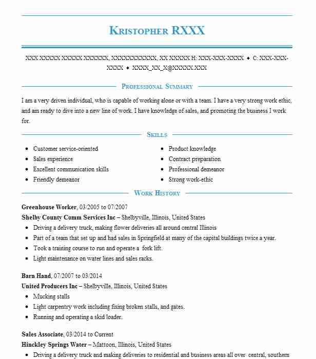 Find Resume Examples in Shelbyville, IL LiveCareer - greenhouse worker sample resume