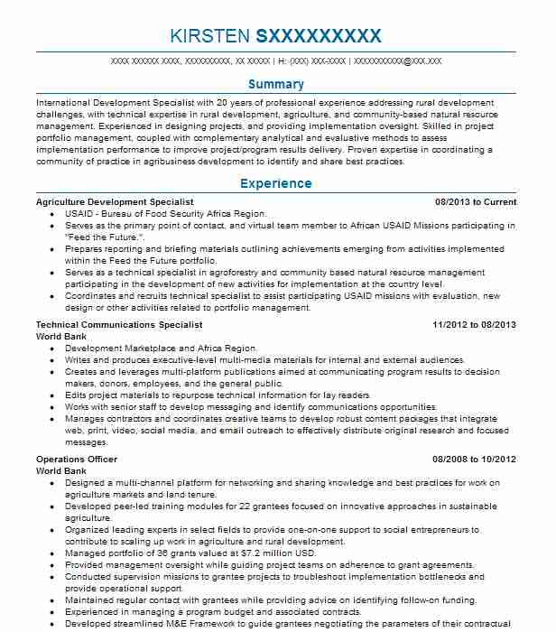 Monitoring And Evaluation Specialist Resume Sample LiveCareer - Surveillance Agent Sample Resume