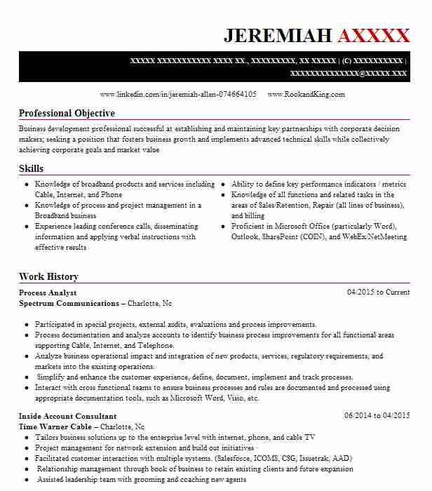Process Analyst Resume Sample Analyst Resumes LiveCareer - Business Process Analyst Sample Resume